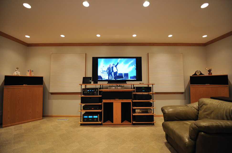 Setting up home theatre in living room living room design ideas - Living room home theater ...