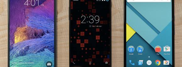 Google android 3 phones hero