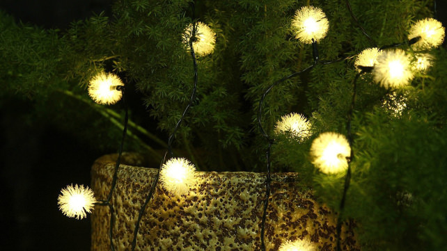 Loende Chuzzle Ball Solar String Lights