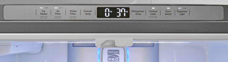 Kenmore Pro 79993 Controls