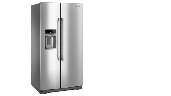 refrigerator maytag. this side-by-side refrigerator has industrial style but inconsistent cooling maytag