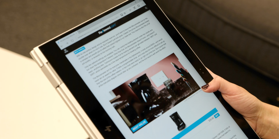 HP Spectre X360 Tablet Mode