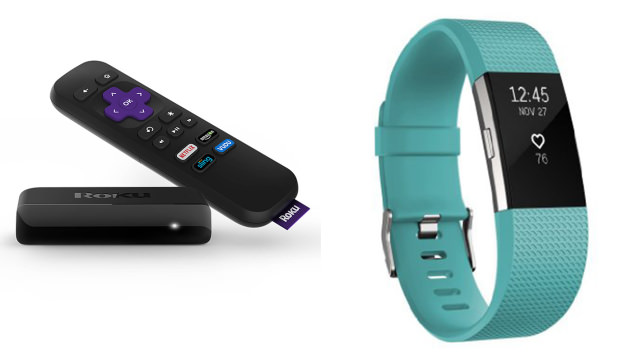 Roku Streaming Stick and Fitbit Charge 2