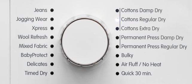 Ventless Dryer Cycle List