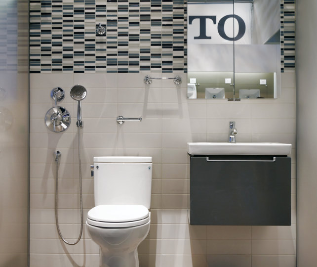 Toto toilet with Villeroy and Boch vanity