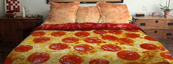 Pizza bed hero