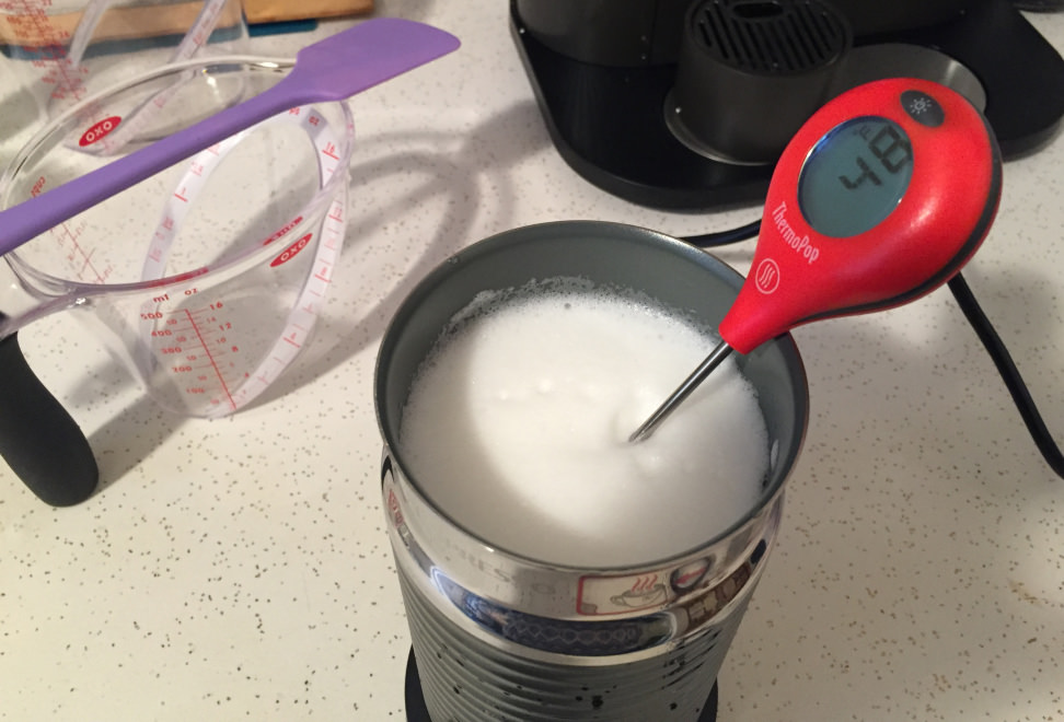 Testing milk temperature