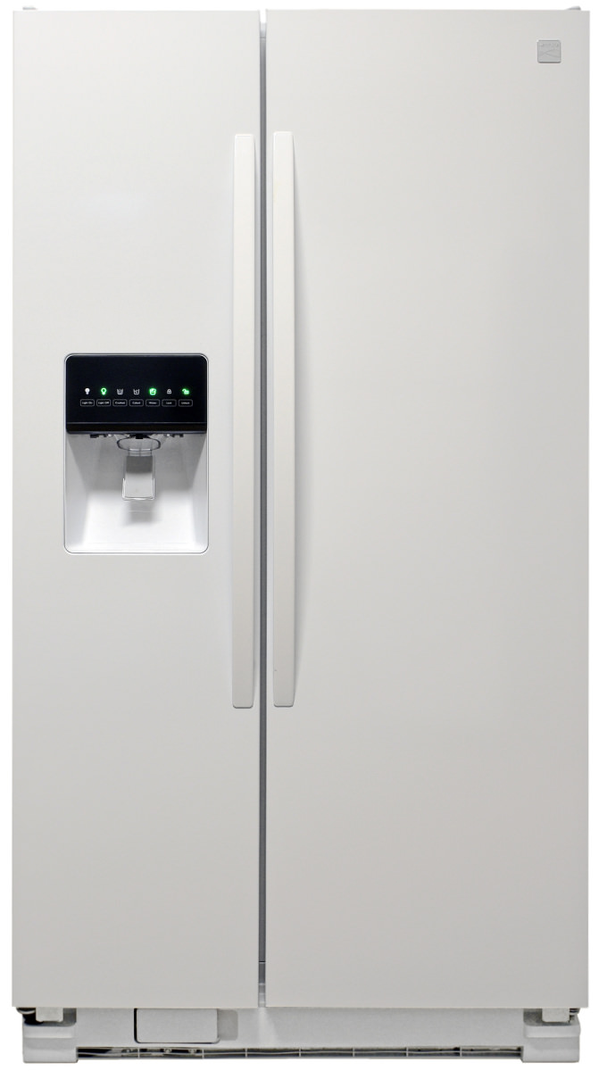 kenmore fridge black. this glossy white fridge also comes in stainless. kenmore black