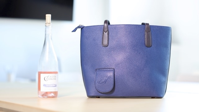 Bag and Wine Bottle