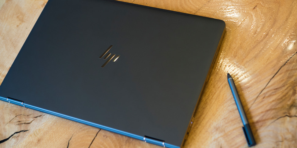 HP Spectre X360 15-inch closed on table