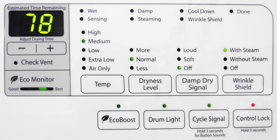 Whirlpool Duet WED87HEDW Controls