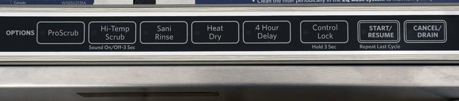 KitchenAid KDTE554CSS—Controls Right