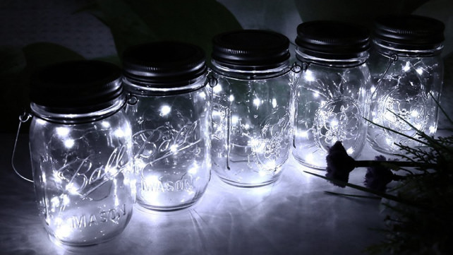 Fonhrrl Hanging Mason Jar Lights