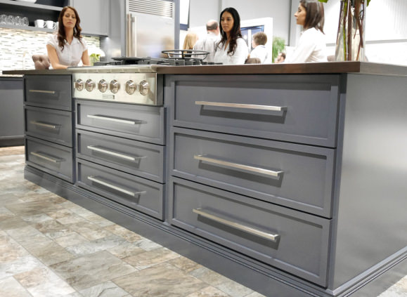 Custom cabinets at Electrolux Icon booth