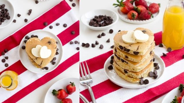 Heart-shaped Pancakes