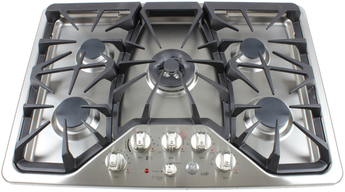 the ge cafe cpg350setss 30inch gas cooktop