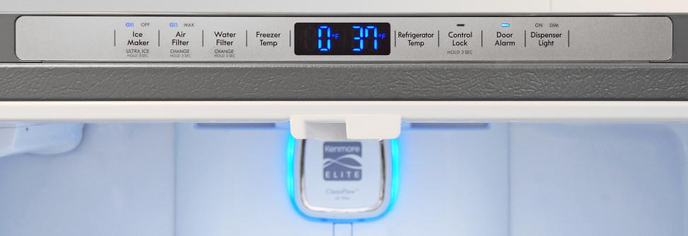 Kenmore Elite 74033 Controls